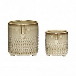 Ceramic Pot | Set of 2 | Beige