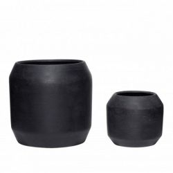 Ceramic Pot | Set of 2 | Black