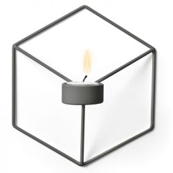 Kerzenständer POV Wand | Warmes Grau