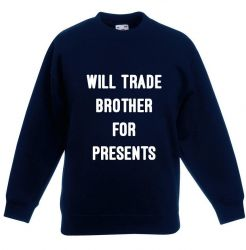 Kids Sweater Brother Presents | Navy