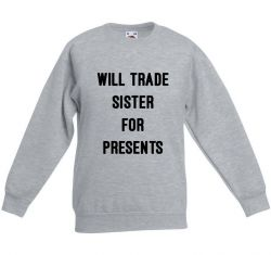 Kinder-Pullover Sister Presents | Grau