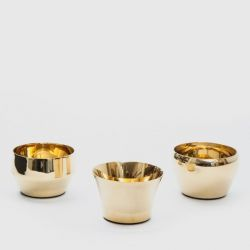 Kin Tealight Holder Set/3 | Brass