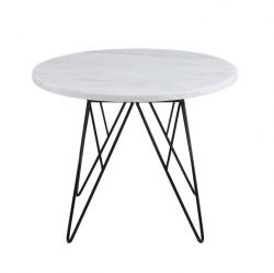 Coffee Table Volk Ø 55 | White Marble