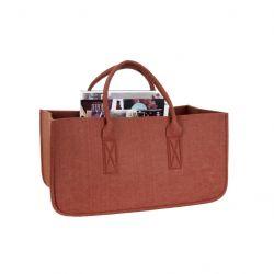 Zeitschriftenständer Tasche | Lehmbraun
