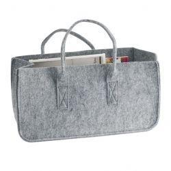 Zeitschriftenständer Tasche | Grau