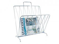 Zeitschriftenständer Diamantraster | Chrom