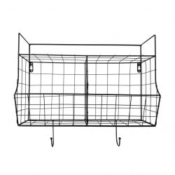 Kitchen Wall Rack Basket | Black