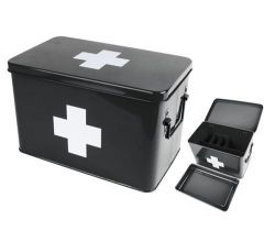 Medicine Storage Box Large | Black