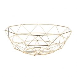 Basket Diamond Cut Large | Gold