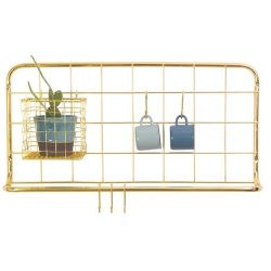Kitchen Rack Set Open Grid | Gold