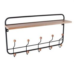 Coat Rack | Iron & Pine Wood