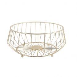Fruit Basket Linea Kink Large | Gold