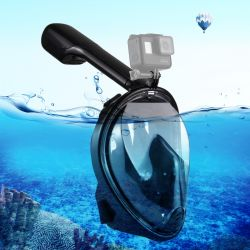 Snorkel Mask with Mount for Camera | Black