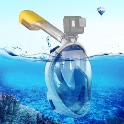 Snorkel Mask with Mount for Camera | Blue