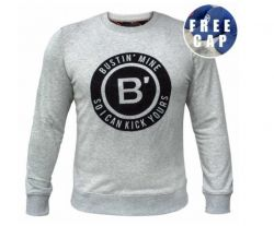 BVLLIN Bustin' Sweater + Free Cap | Grey / Black