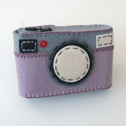 Camera Case Holder Purple