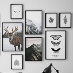 Gerahmte Leinwand | 10er-Set | Waldkomposition
