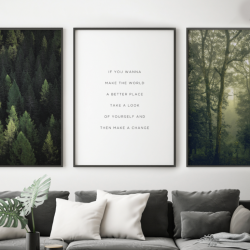 Gerahmte Leinwand | 3er-Set | Wilde Komposition