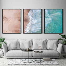 Framed Canvas | Set of 3 | Bahia Composition