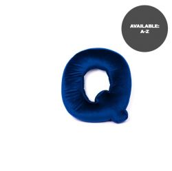 Cushion Letter Velvet Blue | Q