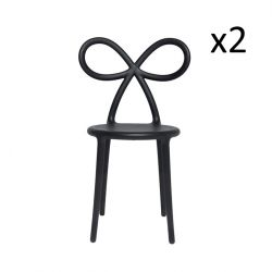 Chaise Ribbon Set de 2 | Noir