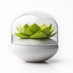 Porte-coton Lotus | Blanc/Vert