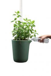 Zelfbewaterende Plantenpot Oasis Rond L | Groen/Grijs