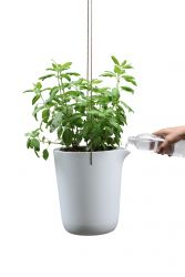 Self-watering Plant Pot Oasis Round L | White/Grey