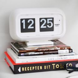 Flip Clock QT35 | White