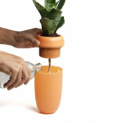 Selbstbewässernder Blumentopf Carepot | Orange
