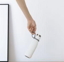 Intelligente Flasche mit Temperaturanzeige & Trinkerinnerung | Weiß