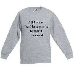 Unisex Sweater Travel the World | Grau