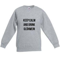 Sweater Unisexe Keep Calm | Gris
