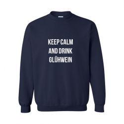 Unisex Sweater Keep Calm | Blau