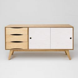 Sideboard SoSixties 2 Doors | Oak + White Oilwaxed