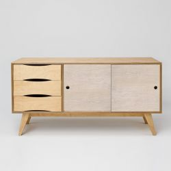 Sideboard SoSixties 2 Doors | Oak + Pebble Grey