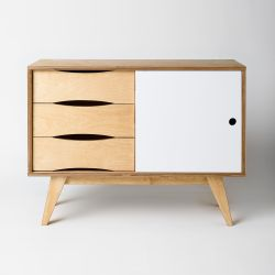 Sideboard SoSixties 1 Door | Oak + White Oilwaxed