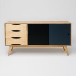 Sideboard SoSixties 2 Doors | Oak + Grey + Anthracite