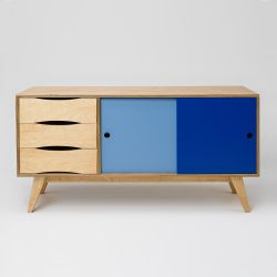 Sideboard SoSixties 2 Doors | Oak + Blue