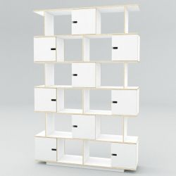 Shelf PIX 150 cm 6 Levels | White Film Plywood