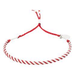 Stahlarmband mit Wachsschnur | Red Wax