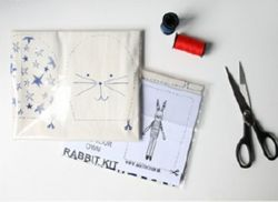 A set of 2 I Love Paris Rabbits-kits