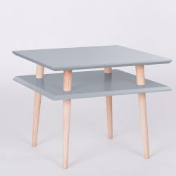 UFO Square Table | Dark Grey