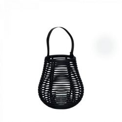 Rattan Lantern With Glass | Small