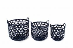 Baskets Set of 3 | Black
