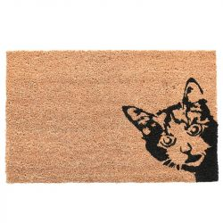 Doormat Coconut | Cat Peek-A-Boo