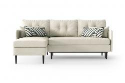 Left Corner Sofa Bed Memphis | White