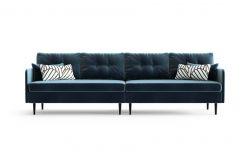 4-Sitzer-Sofa Memphis | Marineblau