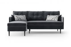 Ecksofa Links Memphis | Anthrazit