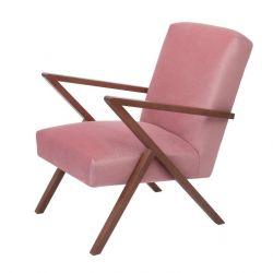 Retrostar© Chair Velvet Line | Vintage Pink